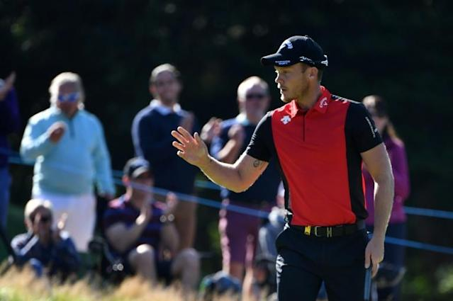 England's Danny Willett shares the lead at the PGA Championship (AFP Photo/Paul ELLIS)
