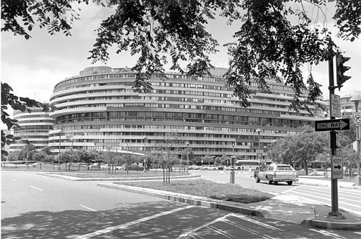 The Watergate Apartments, where many government dignitaries make their home, is seen Dec. 2, 1971. It borders the Potomac River near the Kennedy Center in Washington. (AP Photo/Bob Daugherty)