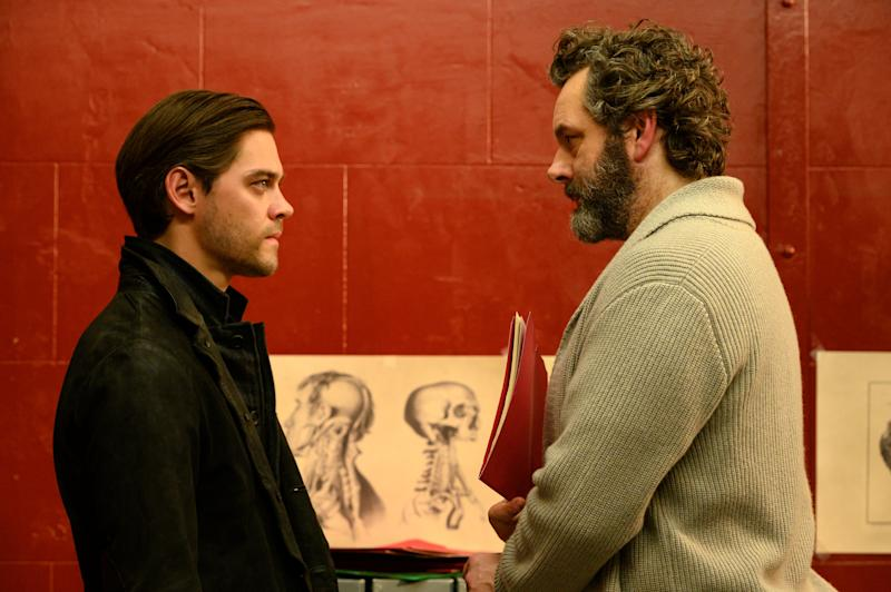"""Tom Payne (""""The Walking Dead"""") and Michael Sheen (""""Masters of Sex"""") in the new Fox series """"Prodigal Son."""""""