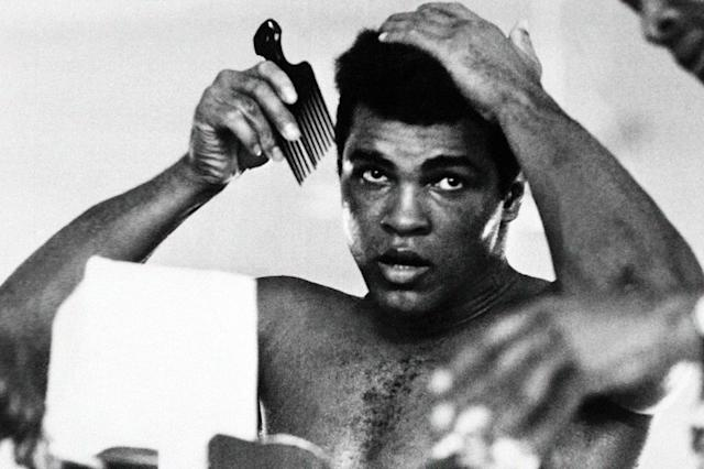 Muhammad Ali approached his third fight against Joe Frazier as the reigning world heavyweight champion after reclaiming the title in the famous 1974 fight against George Foreman (AFP Photo/)