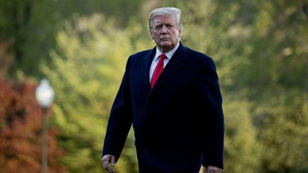 PHOTO:President Donald Trump walks on the South Lawn as he arrives at the White House in Washington, April 15, 2019. (Andrew Harnik/AP, FILE)