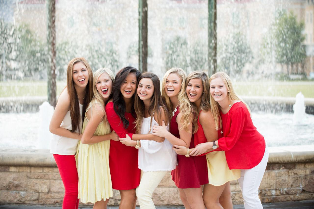 """<p>The largest sorority in the <a rel=""""nofollow"""" href=""""https://www.npcwomen.org/"""">National Panhellenic Conference</a> (based on number of initiates), Chi Omega has more than 345,000 initiated members, 180 collegiate chapters, and 243 alumnae chapters.Founded in 1895 at the University of Arkansas, Chi Omega's popularity extends to celebrities, as well; famous alums include Lucy Liu, Sela Ward, and Joanne Woodward.<br></p>"""