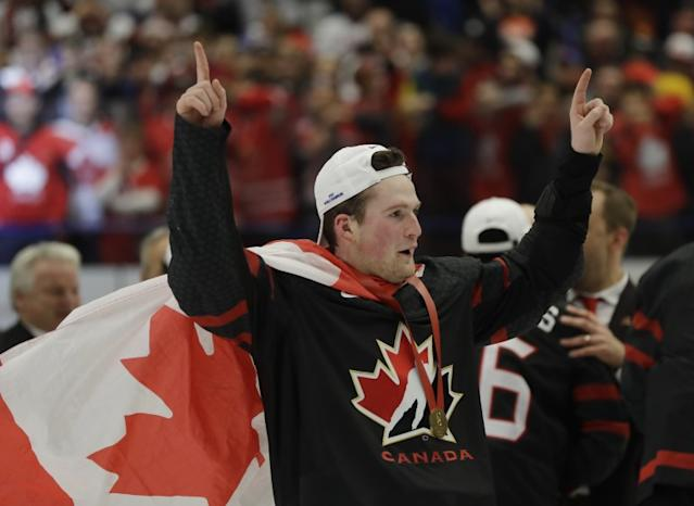 """Canada's Alexis Lafreniere is the top prospect in the 2020 NHL draft, according to the league's scouting services department. <span class=""""copyright"""">(Petr David Josek / Associated Press)</span>"""