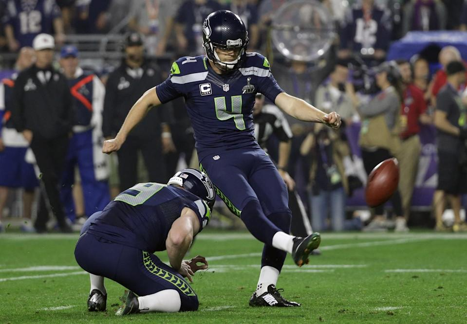 Steven Hauschka missed a chance to give the Seattle Seahawks a win Sunday night. (AP)