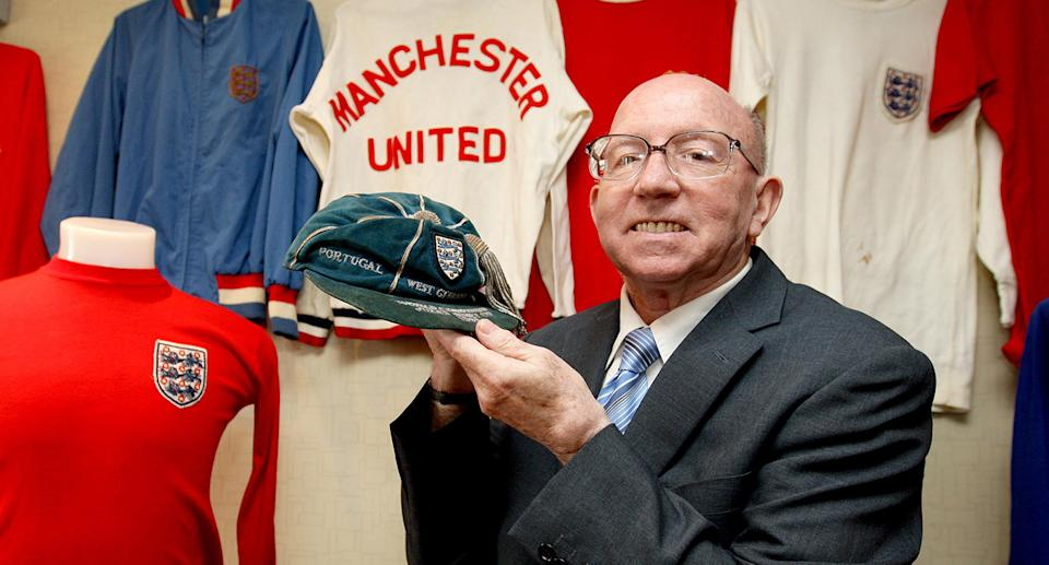 World Cup winner Nobby Stiles died aged 78 after suffering with prostate cancer and advanced dementia. Made an MBE in 2000, he had played for the victorious England squad in the 1966 World Cup and famously celebrated by dancing around with his false teeth in hand. (Photo by Dave Thompson/PA Images via Getty Images)