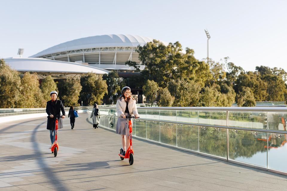 Neuron Mobility's e-scooters