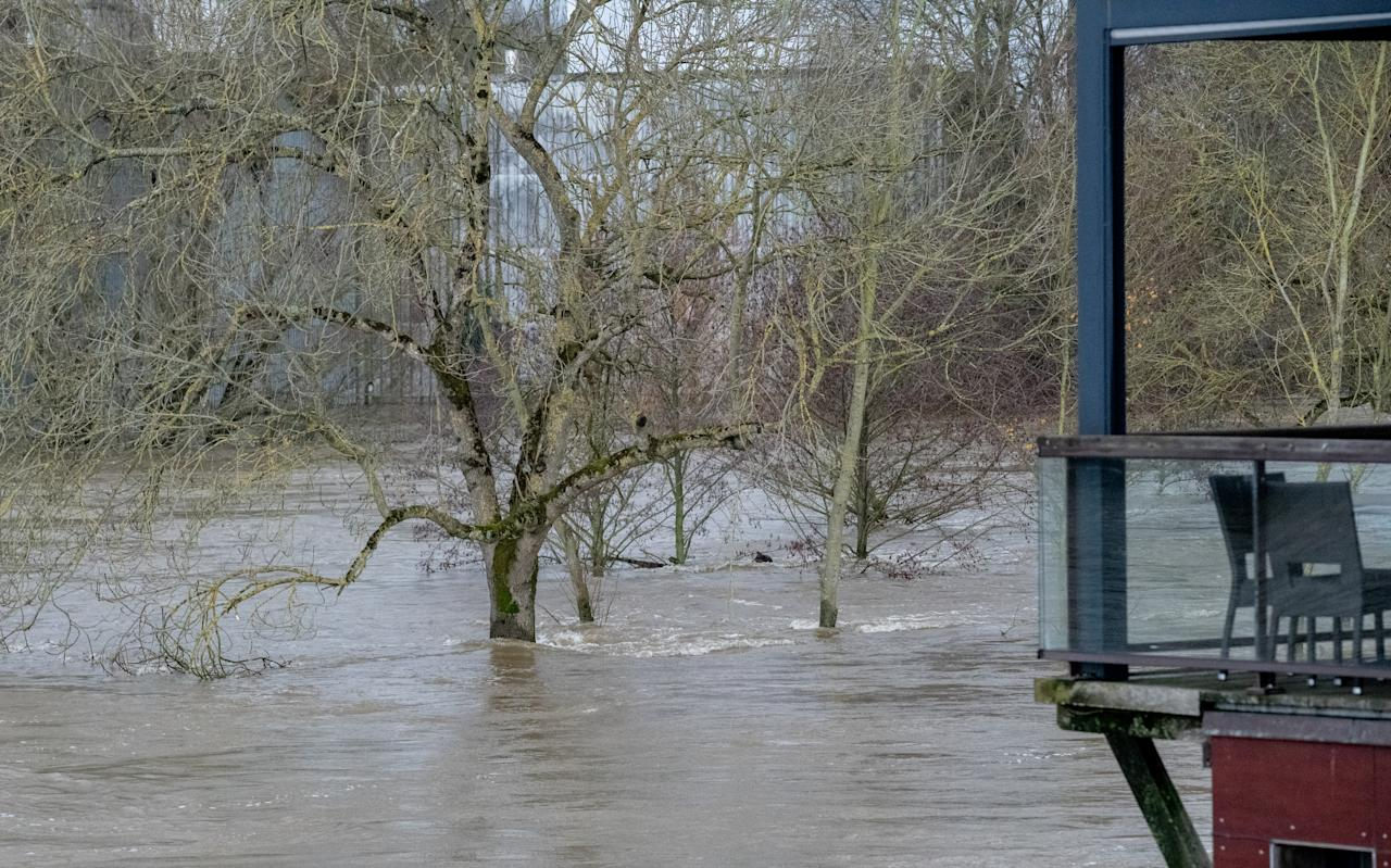 Brittany in France was particularly affected by the flood after the passage of Storm Fabien. The Vilaine River overflowed its banks. (Getty Images)