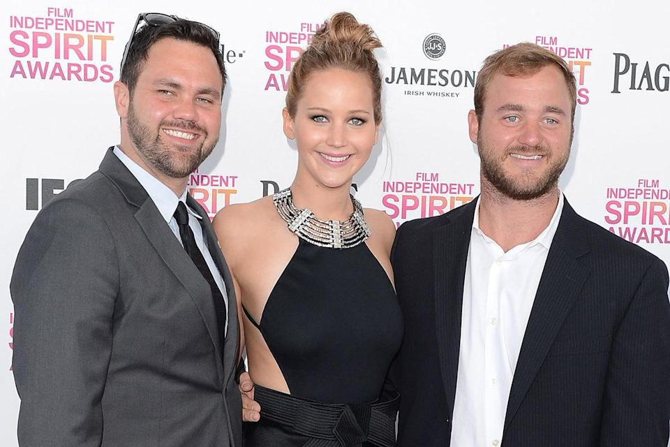 Ben and Blaine Lawrence – brothers of Jennifer Lawrence: Friendly older bros Ben and Blaine frequently show up to support Jennifer at public events (Credit: Getty)