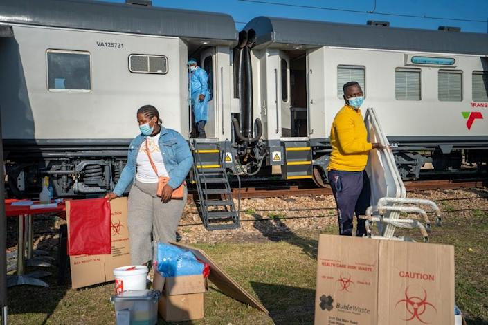Virus Outbreak South Africa Vaccine Train (Copyright 2021 The Associated Press. All rights reserved.)