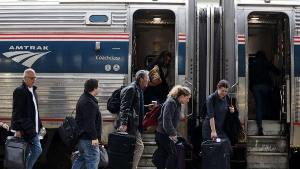 PHOTO:Passengers wait to board an Amtrak train Nov. 27, 2019 at Union Station in Washington, D.C. (Alex Wong/Getty Images)