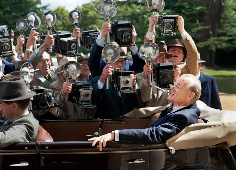 """This film image released by Focus Features shows Bill Murray as Franklin D. Roosevelt in a scene from """"Hyde Park on Hudson."""" (AP Photo/Focus Features, Nicola Dove)"""
