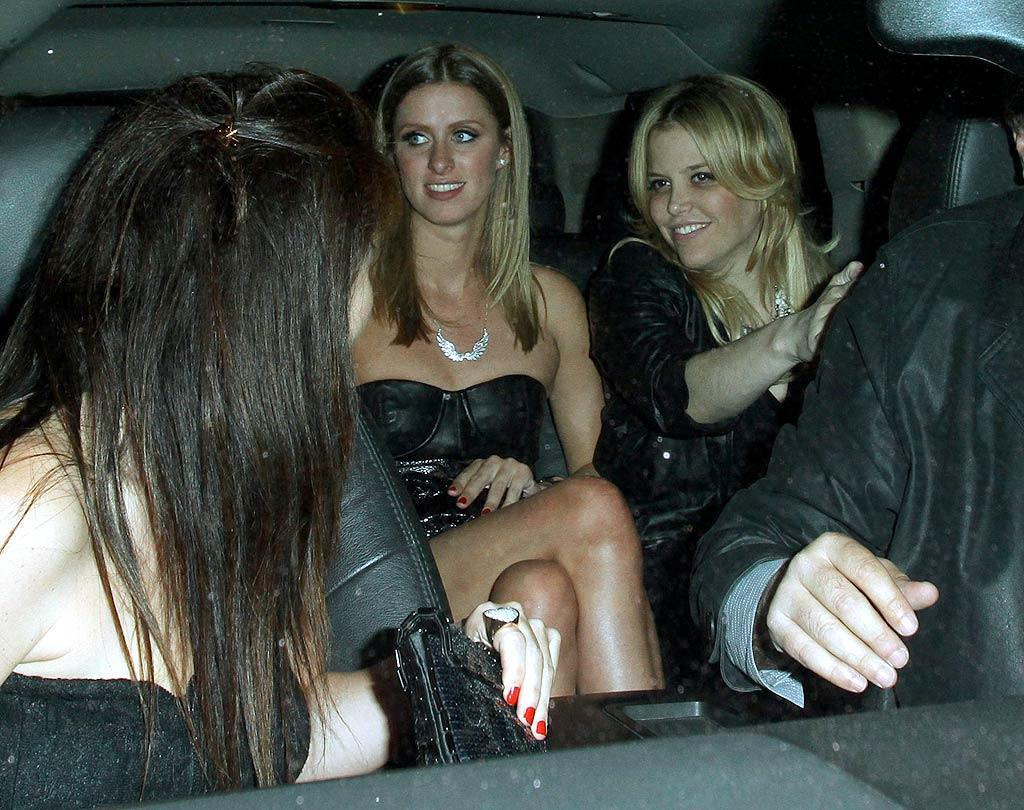 "Meanwhile, hotel heiress Nicky Hilton and her friends rolled up dressed to impress. Surprisingly, Hilton's sister Paris wasn't by her side; she was over at Drai's for <i>Us Weekly</i>'s Hot Hollywood bash. EPA/<a href=""http://www.x17online.com"" target=""new"">X17 Online</a> - April 22, 2010"
