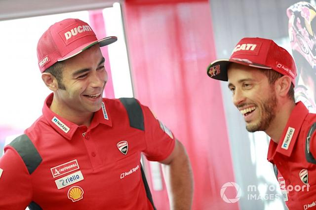 "Danilo Petrucci, Ducati Team, Andrea Dovizioso, Ducati Team <span class=""copyright"">Gold and Goose / LAT Images</span>"