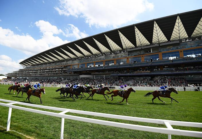 William Buick on board Kemari on their way to winning the Queen's Vase on Day Two of the Royal Ascot Meeting at Ascot Racecourse.