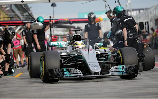 <span>Hamilton will be looking to stay out in front</span> <span>Credit: Rex </span>
