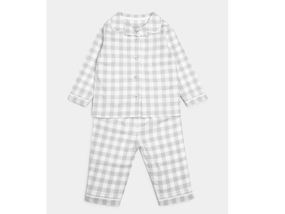 <p>These mixed-fabric pjs will keep your child comfy for their Christmas sleep</p>Mamas and Papas