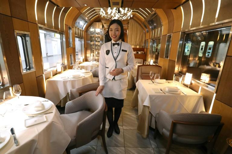 Branchline dining: Travellers willing to shell out $8,500 each can enjoy the height of luxury on the Train Suite Shiki-Shima in northern Japan, where Michelin-starred chefs prepare top-notch nosh