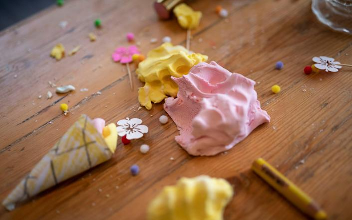 The Ice-Cream Parlour Play Dough is a messy but fun way to spend time - Christopher Pledger