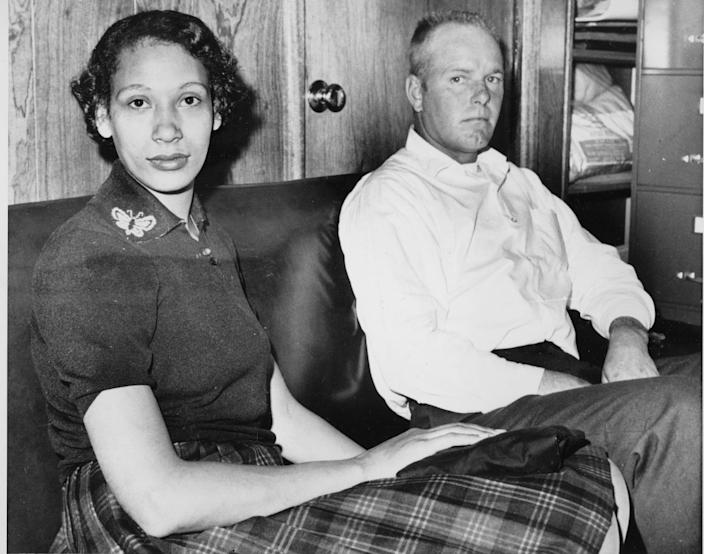 Mildred Loving and her husband Richard P Loving are shown in this January 26, 1965 file photograph.