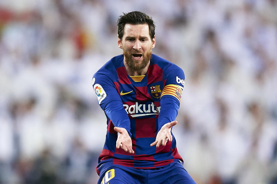Lionel Messi is a product of La Masia who's dragged big-spending Barcelona as much as he could this season. (Photo by Mateo Villalba/Quality Sport Images/Getty Images)