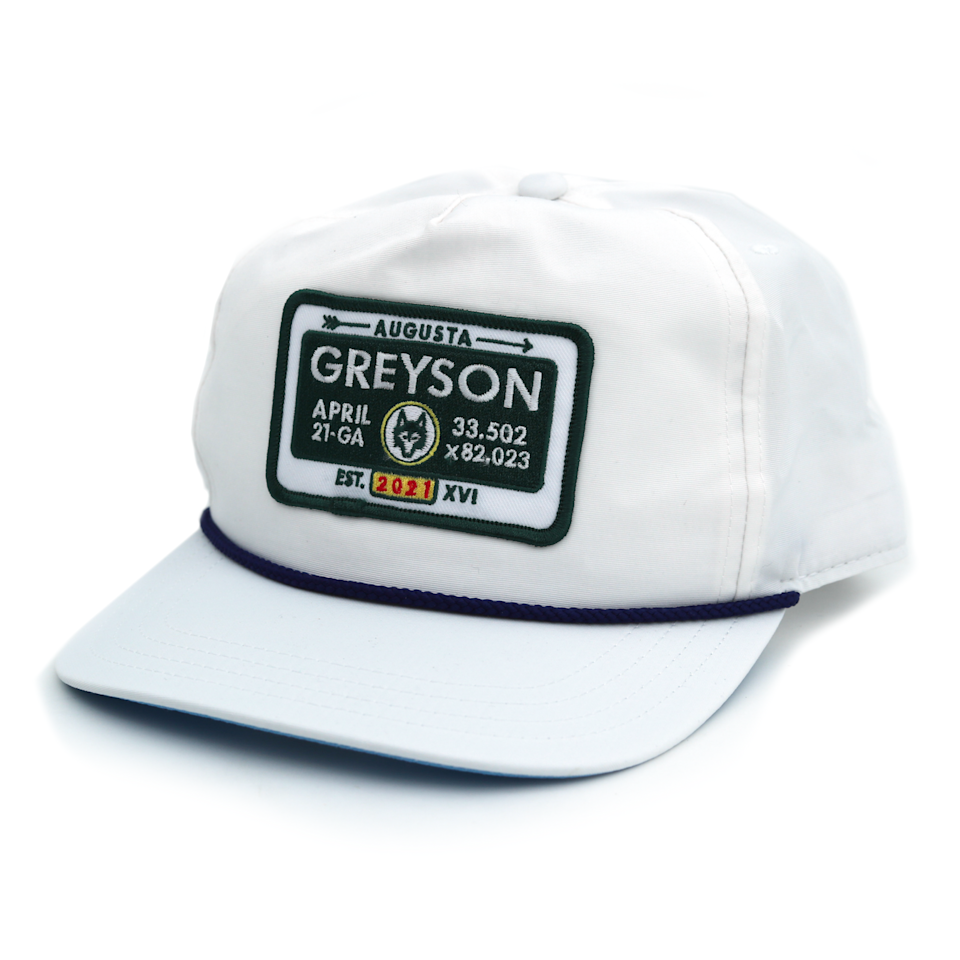 "<p><strong>21 GA Rope Hat</strong></p><p>greysonclothiers.com</p><p><strong>$48.00</strong></p><p><a href=""https://greysonclothiers.com/collections/new-arrivals/products/21-ga-rope-hat"" rel=""nofollow noopener"" target=""_blank"" data-ylk=""slk:Shop Now"" class=""link rapid-noclick-resp"">Shop Now</a></p><p>Greyson makes it all: Shirts, pants, on-course accessories. But we can't stop thinking about this rope hat, a nod to Augusta, Georgia, home of The Masters. </p>"