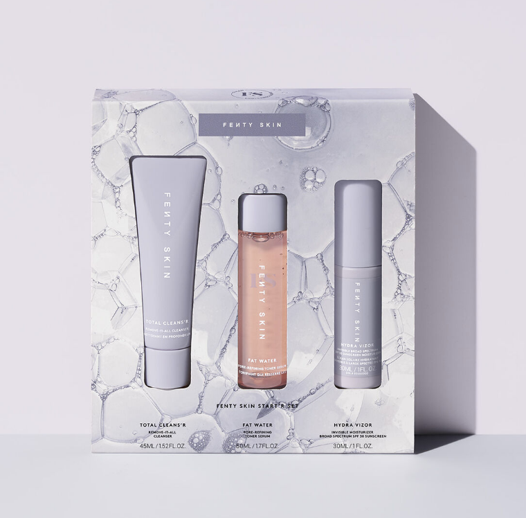 """<p><strong>Fenty Skin </strong></p><p>Fenty Beauty</p><p><strong>$40.00</strong></p><p><a href=""""https://go.redirectingat.com?id=74968X1596630&url=https%3A%2F%2Fwww.fentybeauty.com%2Ffenty-skin-startr-set%2FFS20003.html&sref=https%3A%2F%2Fwww.womansday.com%2Frelationships%2Fdating-marriage%2Fg36408636%2Fbridal-shower-gift-ideas%2F"""" rel=""""nofollow noopener"""" target=""""_blank"""" data-ylk=""""slk:Shop Now"""" class=""""link rapid-noclick-resp"""">Shop Now</a></p><p>No matter what skin care preferences she has, chances are Rihanna's Fenty Skin Set checks the boxes. This starter kit is cruelty-free, vegan, and recyclable, and thousands of reviewers say the products left their skin glowing.</p>"""