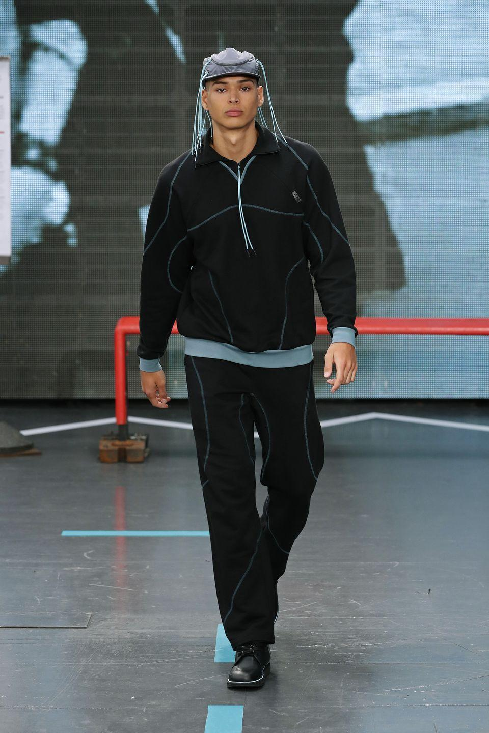 <p><strong>Wear: </strong>The tracksuits</p>