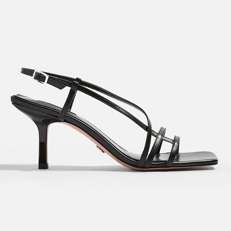 f4f7d29c If you haven't bought into strappy sandals this season, now's the time.  Featuring incredibly thin straps that weave across the foot, Topshop's  Strippy Heels ...