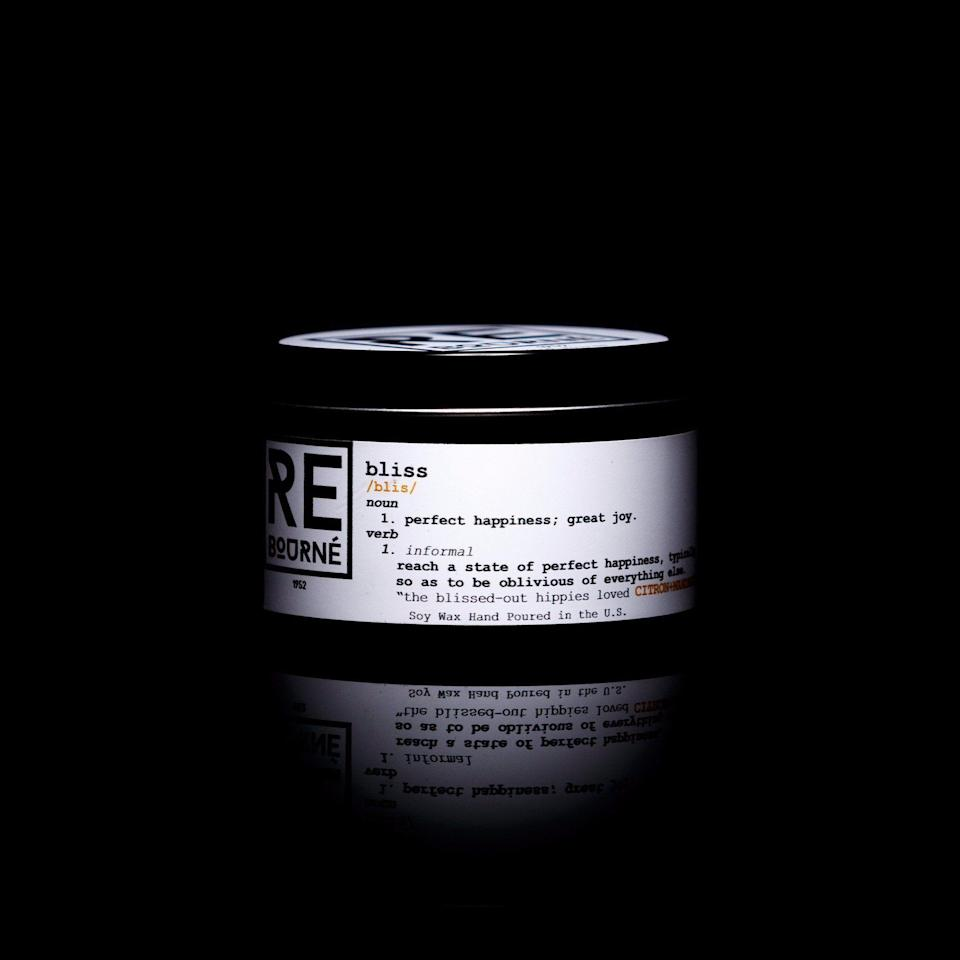 "<p><strong>ReBourné</strong></p><p><strong>$21.50</strong></p><p><a href=""https://rebournebodyandhome.com/collections/candles/products/rebourne-bliss-hand-poured-soy-scented-candle-citron-mandarin?variant=12751066333270"" rel=""nofollow noopener"" target=""_blank"" data-ylk=""slk:SHOP IT"" class=""link rapid-noclick-resp"">SHOP IT</a></p><p>Citrus lovers, rejoice: ReBourné's ""Bliss"" soy wax candle is about to make your home smell like freshly-squeezed orange juice with an approximate burn time of 45 to 50 hours. </p>"
