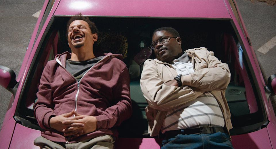 Eric Andre and Lil Rel Howery in 'Bad Trip' (Netflix)