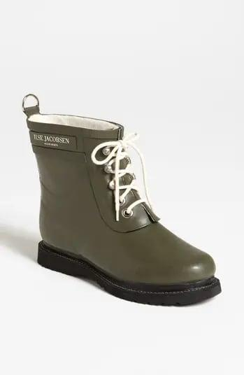 <p>Thanks to its water-resistant treatment, <span>Ilse Jacobsen's 'Rub' Boots</span> ($170) have us <em>actually</em> looking forward to those rainy days. Puddle jumping, anyone?</p>