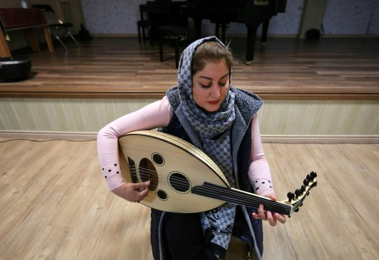 Nouchine Pasdar, 40, started teaching the oud after graduating from professional arts school more than 20 years ago