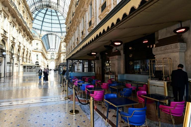 The Galleria Vittorio Emanuele II in central Milan is usually bustling with visitors