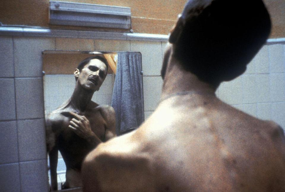 <p>Christian Bale's startling weight loss in The Machinist</p>Handout