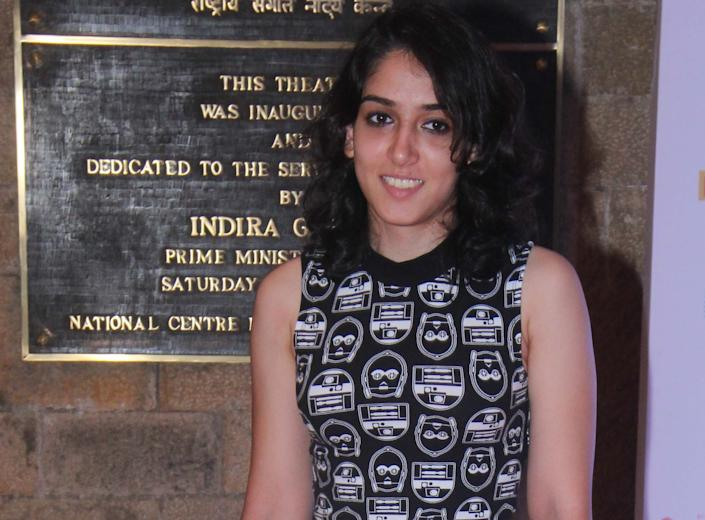 Bollywood actor Aamir Khan's daughter Ira Khan at the launch of the Mumbai Academy of Moving Images Film Club at Tata Theater, NCPA, Nariman Point, on May 23, 2016 in Mumbai, India. (Photo by Pramod Thakur/Hindustan Times via Getty Images)