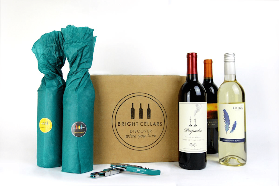 """Nothing (not even social distancing) can come between me and finding a new favorite wine. Started by two wine-loving MIT grads, Bright Cellars uses an algorithm to match you to different wines—from small vineyards around the world to popular varieties from Italy, Spain, and South America. $60, Bright Cellars. <a href=""""https://www.brightcellars.com/"""" rel=""""nofollow noopener"""" target=""""_blank"""" data-ylk=""""slk:Get it now!"""" class=""""link rapid-noclick-resp"""">Get it now!</a>"""