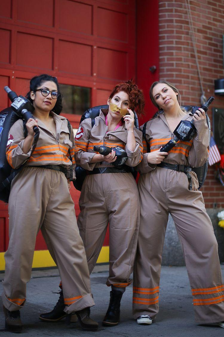 """<p>If you're all about the paranormal (in the fun, comedic sort of way), these <em>Ghostbusters</em> Halloween costumes are a dead ringer for the jumpsuits worn by the original trio in this 1984 blockbuster. Strap on the inflatable backpack and you're in ghost business. </p><p><a class=""""link rapid-noclick-resp"""" href=""""https://www.amazon.com/gp/product/B01CQCBED6/?tag=syn-yahoo-20&ascsubtag=%5Bartid%7C2141.g.33458919%5Bsrc%7Cyahoo-us"""" rel=""""nofollow noopener"""" target=""""_blank"""" data-ylk=""""slk:SHOP COSTUME"""">SHOP COSTUME</a></p><p><a href=""""http://livingaftermidnite.com/2019/10/10-last-minute-halloween-costumes-you-can-amazon-prime.html"""" rel=""""nofollow noopener"""" target=""""_blank"""" data-ylk=""""slk:Get the tutorial at Living After Midnite »"""" class=""""link rapid-noclick-resp""""><em>Get the tutorial at Living After Midnite »</em></a></p>"""