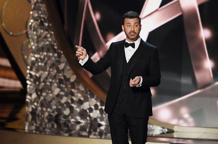 Jimmy Kimmel hosted the 68th Primetime Emmy Awards in 2016.