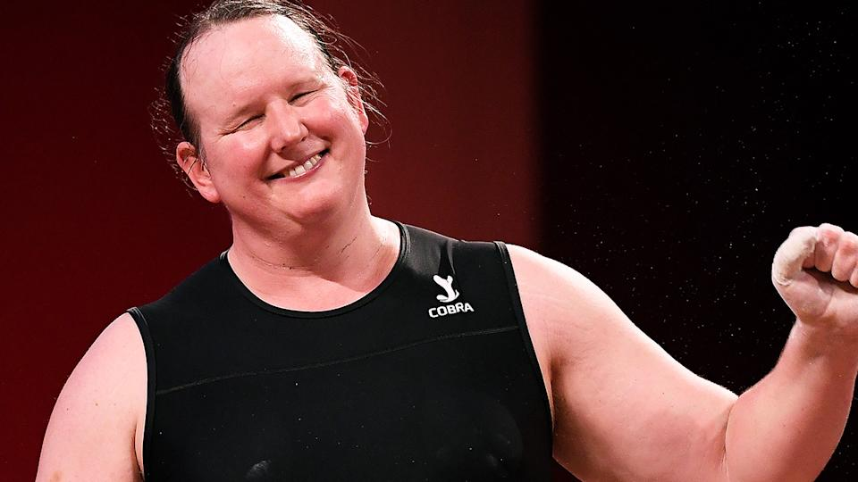New Zealand weightlifter Laurel Hubbard was awarded the Sportswoman of the Year by the University of Otago. (Wally Skalij /Los Angeles Times via Getty Images)