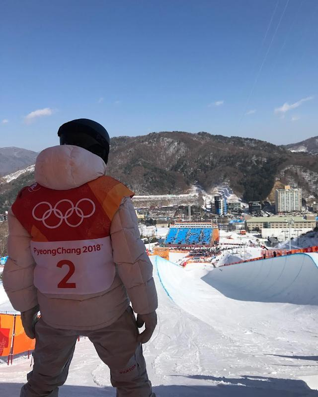 <p>shaunwhite: Halfpipe Semi-Finals about to start Wish me luck! (Photo via Instagram/shaunwhite) </p>