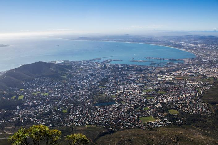 Cape Town seen from Table Mountain (G Adventures)