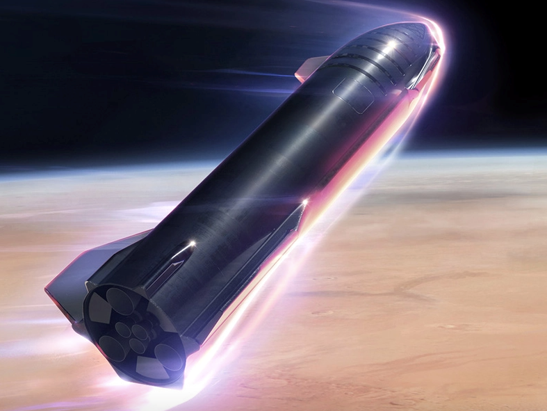 SpaceX says Starship will be able to carry up to 100 people to Mars, as this artist's impression illustratesSpaceX