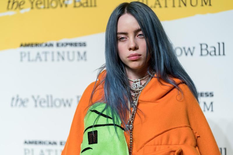 Singer Billie Eilish attends the Yellow Ball at the Brooklyn Museum on September 10, 2018 in New York City: Getty Images
