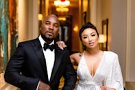 "<em>The Real</em> host and rapper are officially dating, PEOPLE confirmed on Aug. 29. The couple arrived together at Jeezy's inaugural SnoBall Gala, which is thrown to help raise funds for his non-profit, Street Dreamz. ""The couple walked into the event arm-in-arm and were all smiles through the night,"" a rep for Jeezy told PEOPLE. Then, in September, Mai gushed about her relationship on <em>The Real</em>, <a href=""https://people.com/tv/jeannie-mai-opens-up-relationship-jeezy/"" rel=""nofollow noopener"" target=""_blank"" data-ylk=""slk:saying"" class=""link rapid-noclick-resp"">saying</a>, ""My man is fine fine!"" and ""I found my equal."" Mai and Jeezy first sparked romance rumors in January when Malika Haqq <a href=""https://www.instagram.com/p/BtEb6TRAuks/?utm_source=ig_embed"" rel=""nofollow noopener"" target=""_blank"" data-ylk=""slk:shared a photo"" class=""link rapid-noclick-resp"">shared a photo</a> of them together alongside herself and boyfriend O.T. Genasis, plus <a href=""https://people.com/tv/steve-harvey-youngest-daughter-lori-is-engaged/"" rel=""nofollow noopener"" target=""_blank"" data-ylk=""slk:Lori Harvey"" class=""link rapid-noclick-resp"">Lori Harvey</a> and singer <a href=""https://people.com/music/trey-songz-arrested-domestic-violence-felony/"" rel=""nofollow noopener"" target=""_blank"" data-ylk=""slk:Trey Songz"" class=""link rapid-noclick-resp"">Trey Songz</a>."