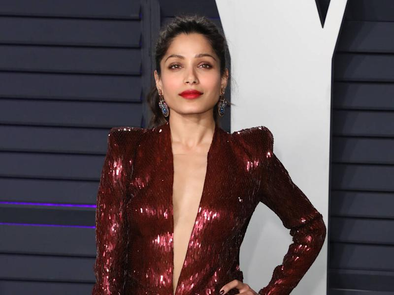Freida Pinto struggled to find shoes that fit growing up in India
