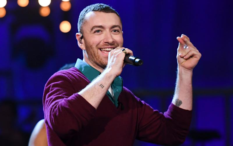Not so much nu soul as flu soul: Sam Smith played his new material at the BBC studios - WARNING: Use of this copyright image is subject to the terms of use of BBC Pictures' Digital Picture
