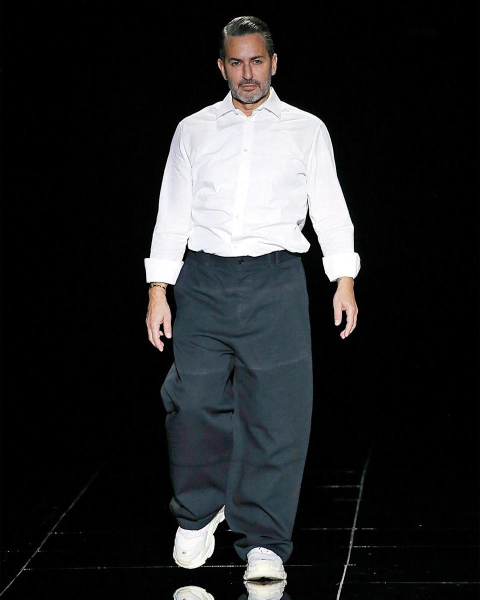 """<h1 class=""""title"""">February 14: Marc Jacobs</h1> <div class=""""caption""""> Marc Jacobs in the second of two massive fits—one before and one after his FW19 fashion show. </div> <cite class=""""credit"""">Victor VIRGILE</cite>"""