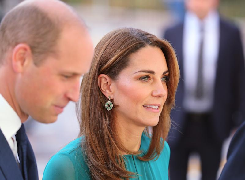 Kate wore earrings by Pakistan designer Zeen. [Photo: PA]
