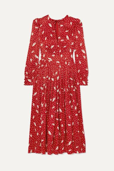 The royal mum-of-three wore a beautiful red dress by Alessandra Rich [Image: Net-A-Porter]