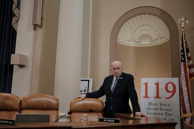D.C. Rep. Louie Gohmert (R-Texas) settles in before the House Judiciary Committee hearing on the impeachment inquiry at the Longworth House Office building on Capitol Hill in Washington, D.C., on Dec. 9, 2019. | Gabriella Demczuk for TIME